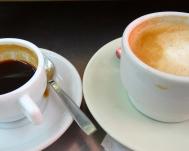 Café solo y con leche