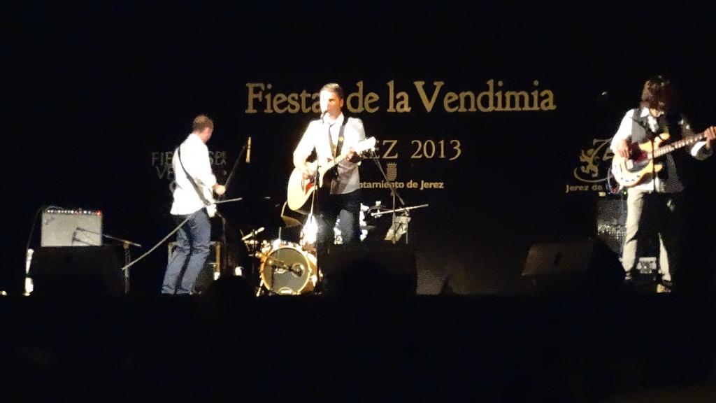 Rock espagnol des années '90 à la Fiesta de la Vendimia (vendanges) à Jerez de la Frontera