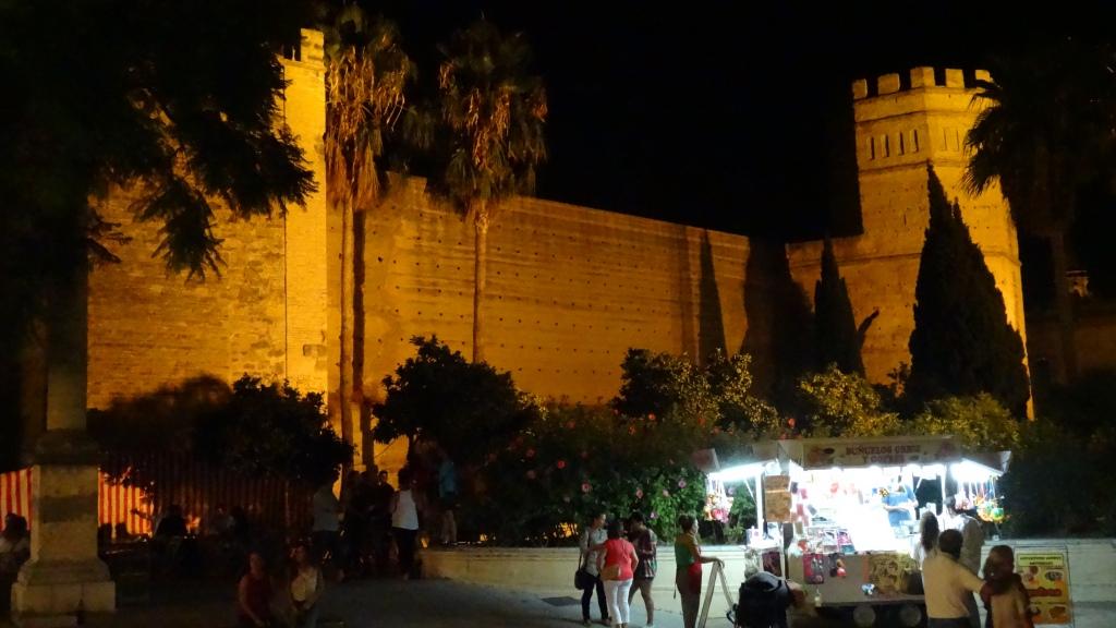 Jerez de la Frontera: l'Alcázar la nuit