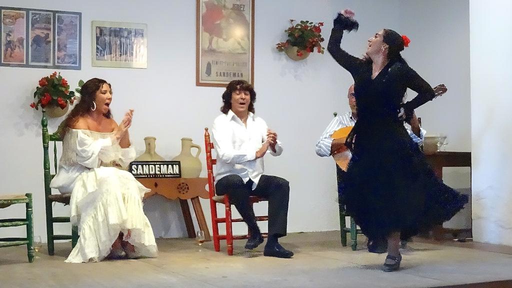 Flamenco; guitariste, chanteurs et danseuse