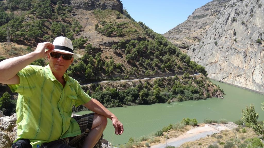 Falaise El Chorro et son réservoir hydraulique