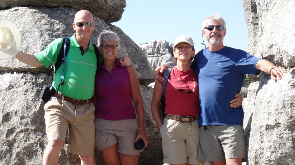 Avec Raymond et Louisette au Parc Naturel du El Torcal, paysage de roches karstiques formé par l'érosion du vent et effet corrosif de la pluie
