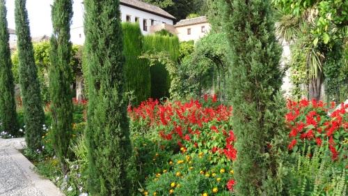 Les jardins du Palais Generalife: lieu où les rois se réfugiaient en dehors de la vie publique