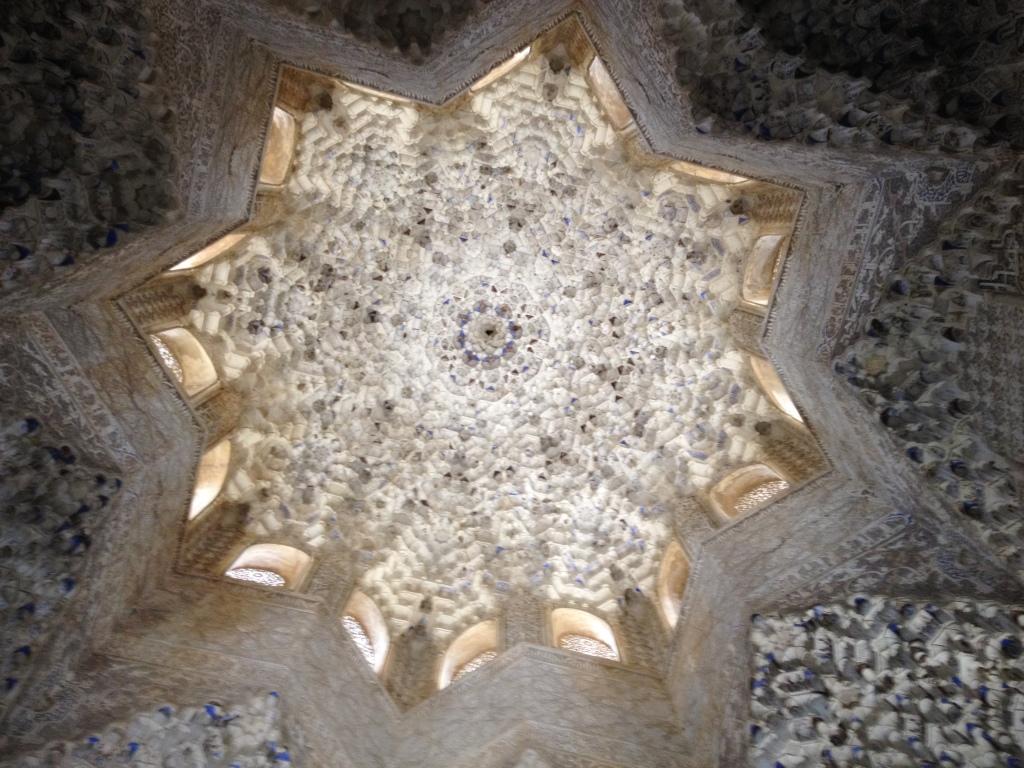 La Sala de los Abencerrajes: coupole à stalactites s'inspirant du théorème de Pythagore
