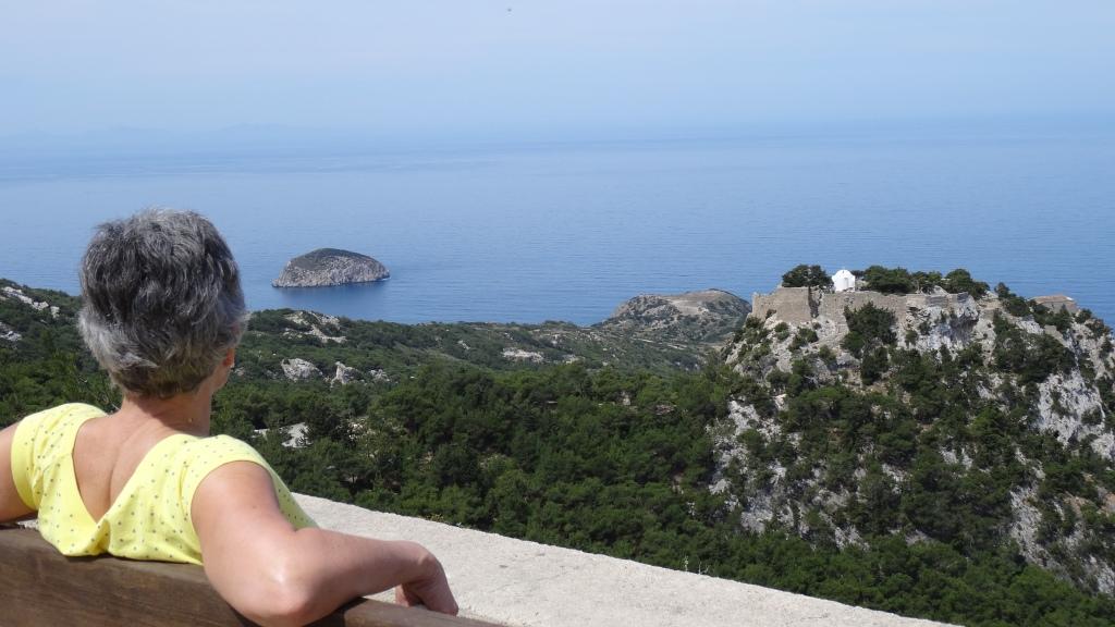 Vue panoramique sur la forteresse de Monolithos datant du 15ième siècle