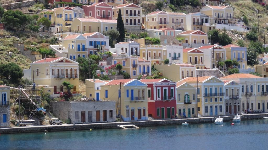 Maisons colorés néo-classiques