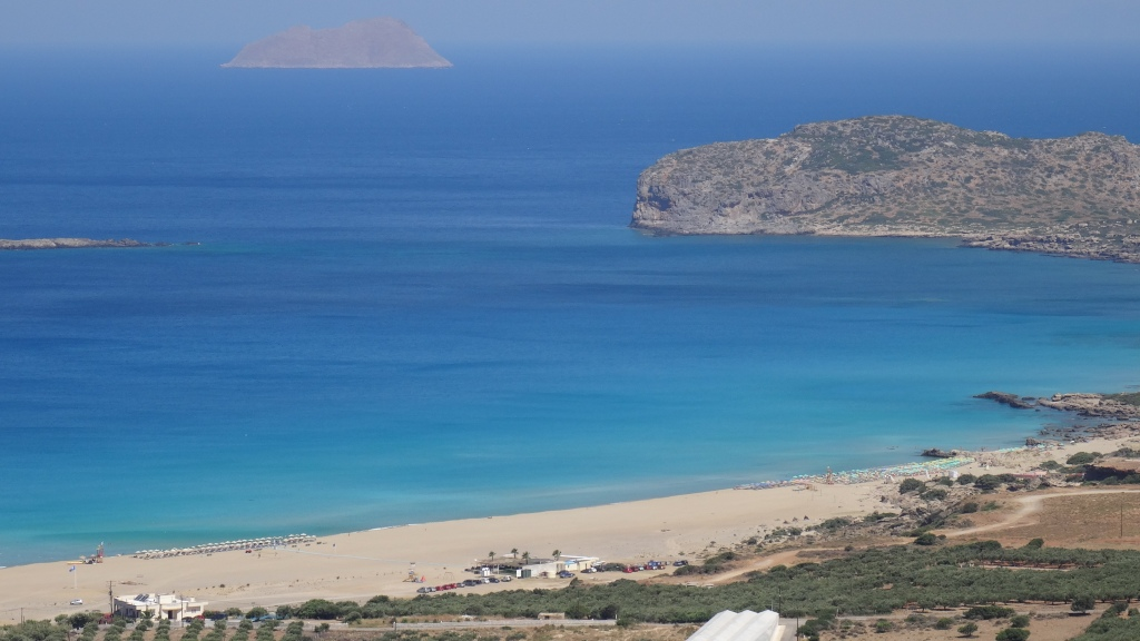 Plage de Falasarna aux magnifiques couleurs située à l'ouest de l'île / Falasarna Beach with superb colours located on the west side of the Island