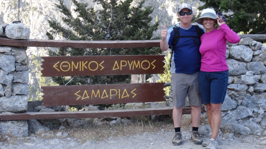 Parc national de Samaria, départ du trekking / Samaria National Park, Trekking Starting Point
