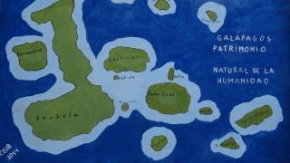 Carte manuelle des Iles Galapagos / Galapagos Islands Manual Map