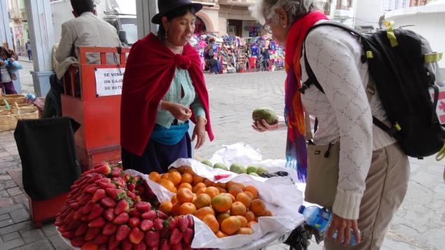 """Paysanne vendeuse en costume traditionnel """"Pollera"""" / Paesan Seller in Traditional costume """"Pollera"""""""