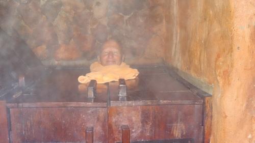 Bain de vapeur dans un caisson individuel / Steam bath in an individual box