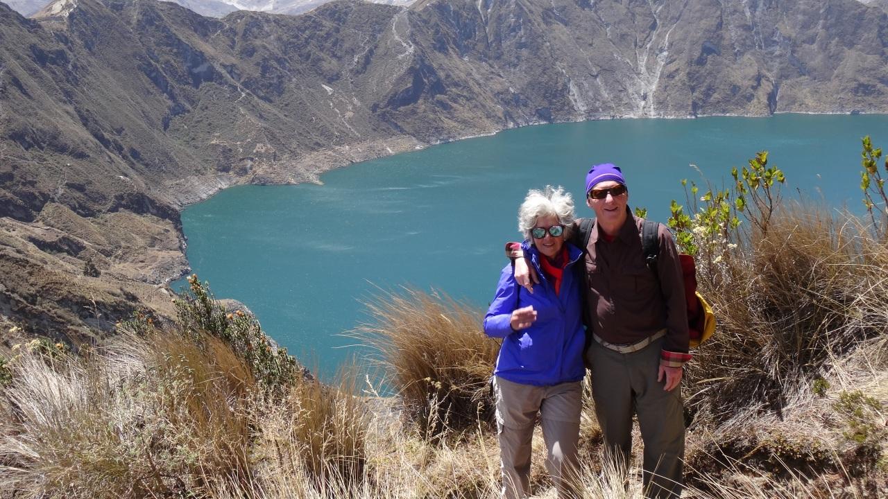 Trek sur les crêtes de la «Lagune de Quilotoa»