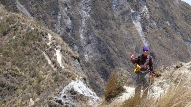 Les crêtes sont très abruptes / Ridges are very Steep