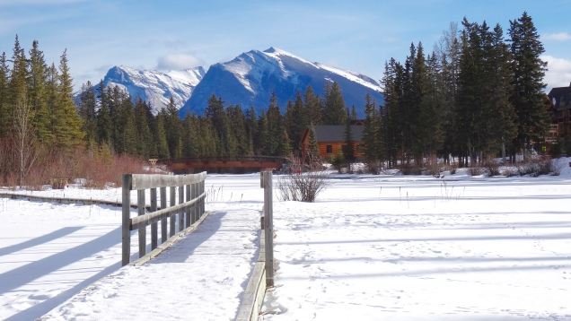 Pathway over the Bow River