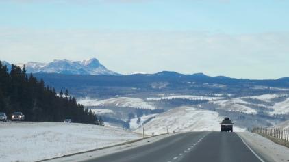 En Alberta, les Prairies s'estompent graduellement et font place aux Rocheuses