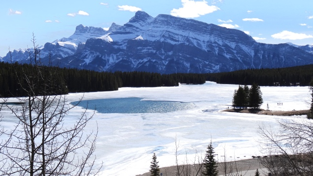 Two Jack Lake and Rundle Mountain