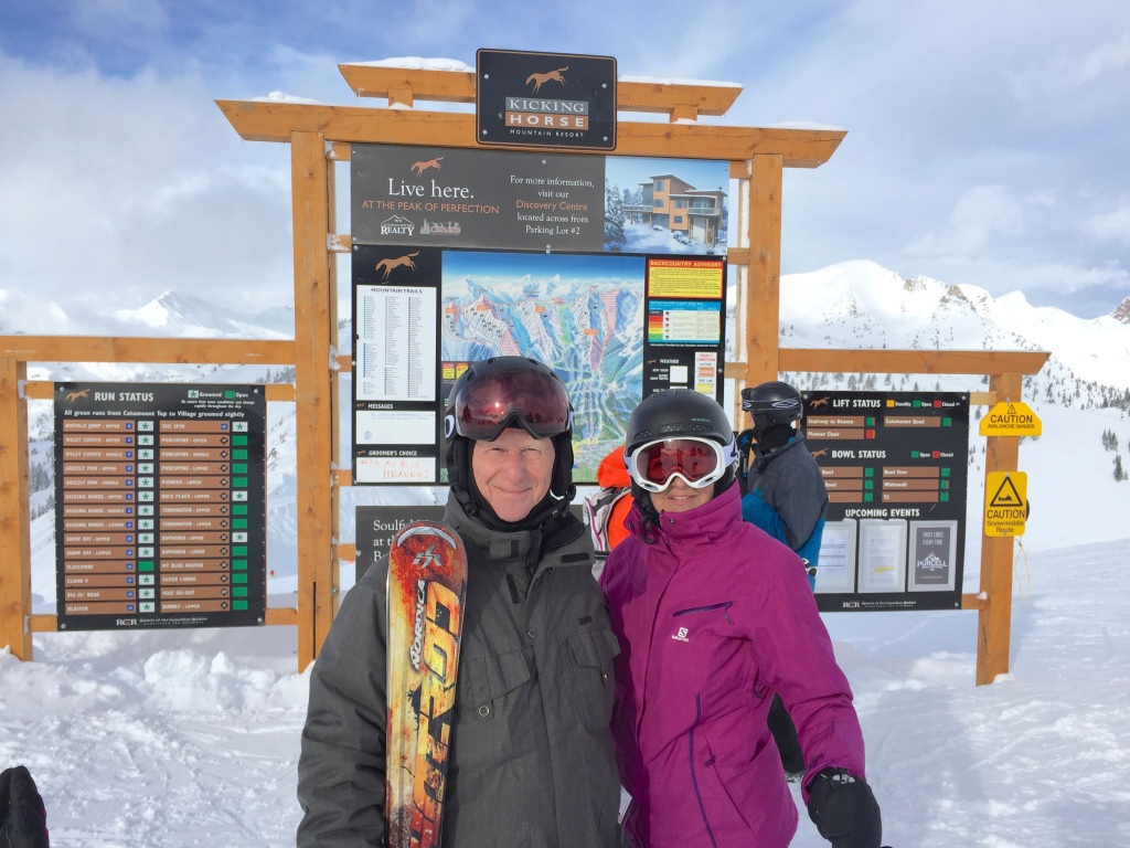 Kicking Horse at the Summit of the Eagle Eye (2 700m.)