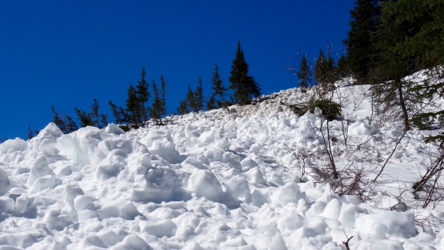 Avalanche Aftermath ... Leaving Area with Disaster