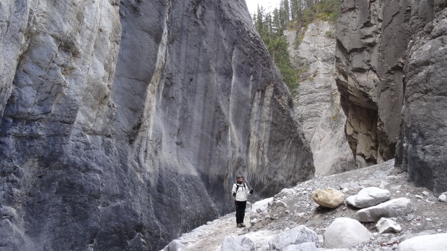 75 m. Vertical Cliffs in Grotto Canyon
