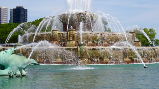 "The ""Buckingham Fountain"" In the Grant Park"