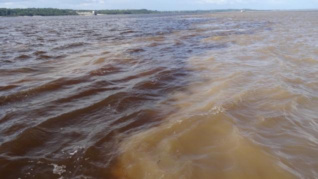 Les eaux des deux rivières concurrent sur plus de 10 Km avant de se mélanger
