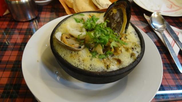 """""""Paila Marina"""" ... spécialité fruits de mer chilienne"""