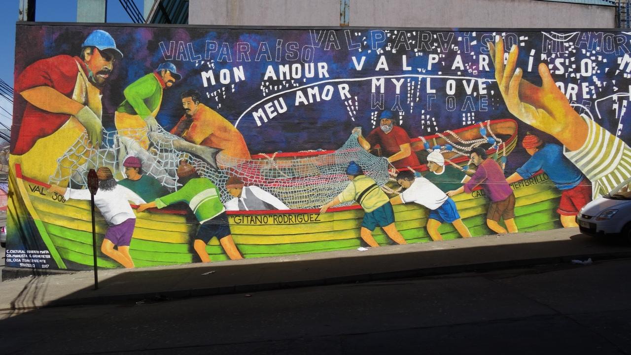 Valparaíso, musée d'art à ciel ouvert!